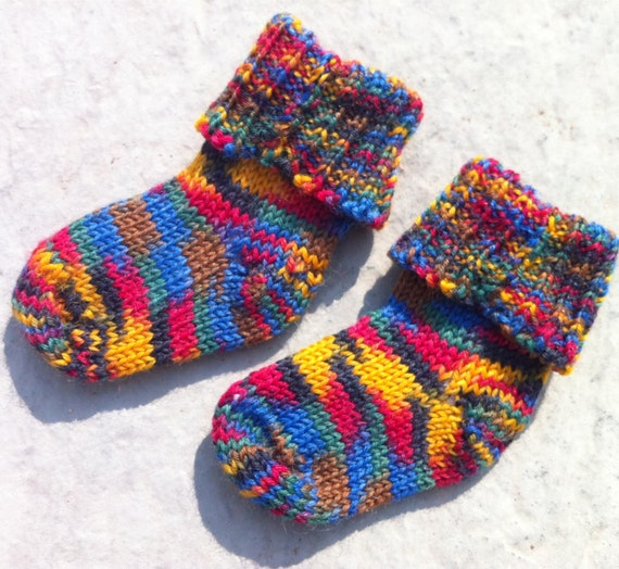 Knitted Baby Socks 0-3 months