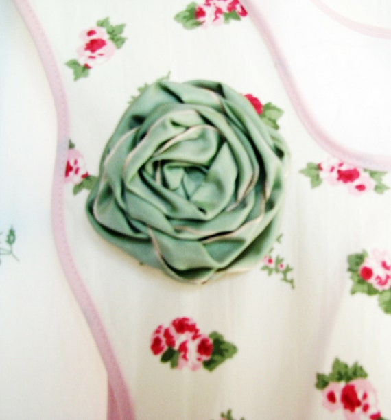 rachel ashwell hyde park FULL APRON roses handmade shabby chic vintage but NEW boutique
