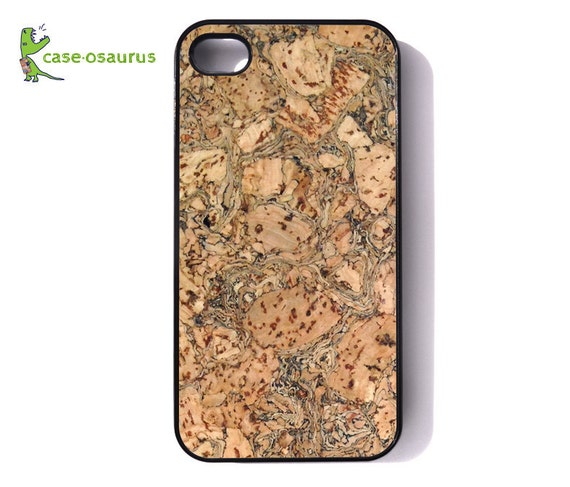 """iPhone Case - """"Cork-a-Mondo I"""" - Cork Patterned for iPhone 6, iPhone 5/5s or iPhone 4/4s, Samsung Galaxy S6, Galaxy S5, Galaxy S4, Galaxy S3"""