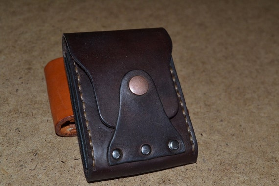 Leather Wallet-Men Wallet-Leather Card Holder Leather-Handmade Dark brown