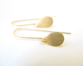 Teardrop earrings, gold earrings, gold fill, delicate, simple jewelry, gold drop earrings, dangle earrings