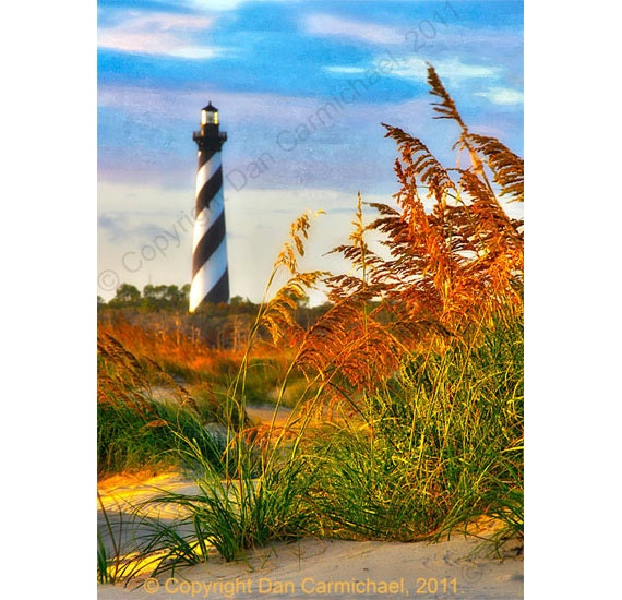 Hatteras at Sunset - Outer Banks
