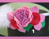 Unique Felt Flower Headbands