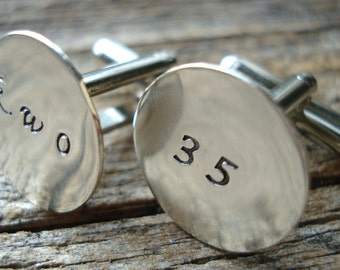 Customizable Cufflinks - Gifts for Men - Anniversary Gift - Handmade - Gift Box Included
