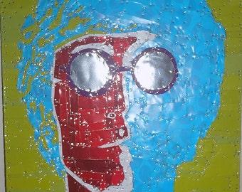 John Lennon Tin Art