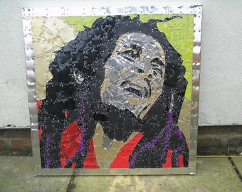 Bob Marley In Recycled Tin