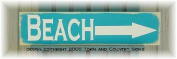 shabby chic little Beach sign, beach wood sign, tropical sign