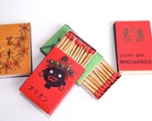 Matchboxes vintage retro from Japan 1970s (set of 9)