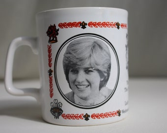 Charles and Diana commemorative Royal Wedding mug 1981