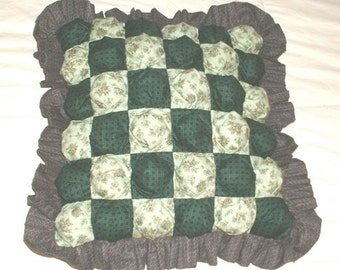 Quilted Biscuit Pillow