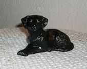Ceramic Black Labrador Retriever Miniature