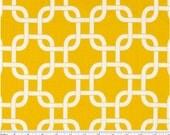 Cotton Fabric - Drapery Fabric - Heavy Cotton Fabric - Yellow and White Gotcha- Fabric by the Yard