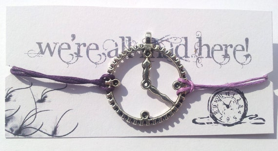 We're all Mad Here... Alice in Wonderland themed friendship bracelet