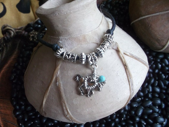 Western horse and heart charm anklet