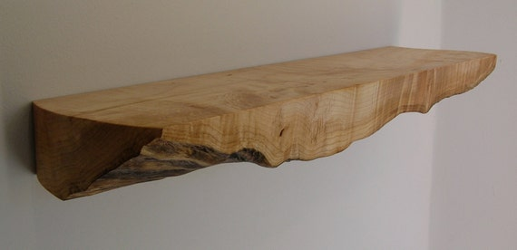 live edge maple shelf