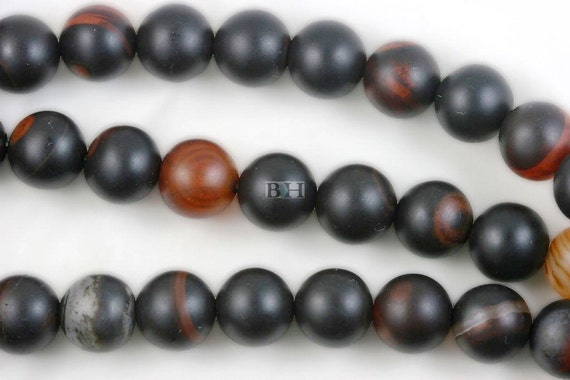 """Lot of 5 Strands 12mm Matte Carnelian Agate Beads Round 15.5"""" (BD3918)"""