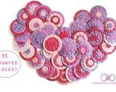 Wholesale Felt Flowers Pink Purple Violet Appliques Embellishments Bulk Lot 35 PCS