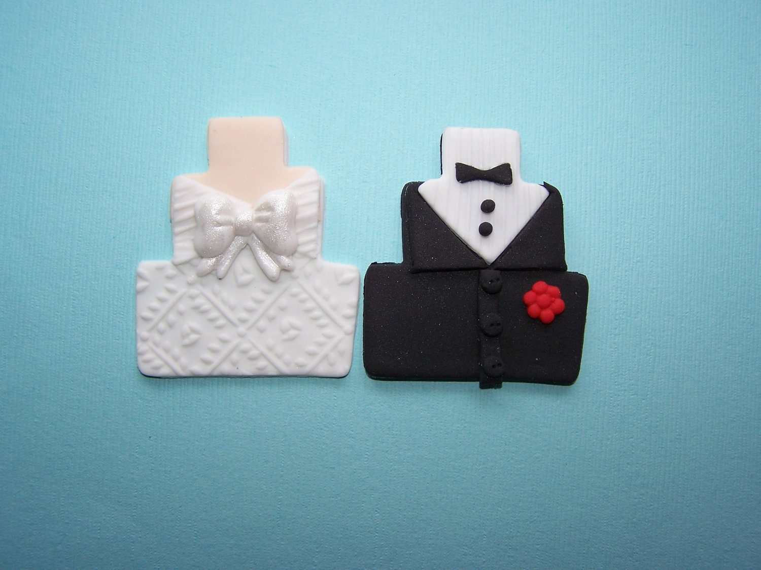 Edible Cupcake Topper Fondant Wedding Bride and by