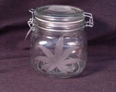 Deluxe Hand Etched Giant Stash Jar