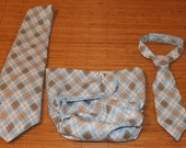Daddy and Me Ties w/ Infant Diaper Cover - Perfect for Father's Day, Holidays, Family Pics and Special Events