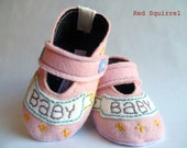 Felt Pink Baby Banner Shoes, Booties