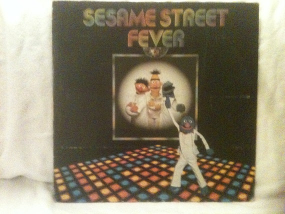 Sesame Street Fever, childrens album 1978 record albums kids records lp vinyl lps grover bert ernie vintage old kid
