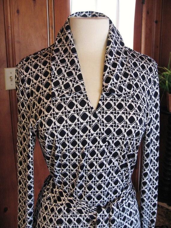 Vintage 90s Diane Von Furstenberg silk jersey wrap