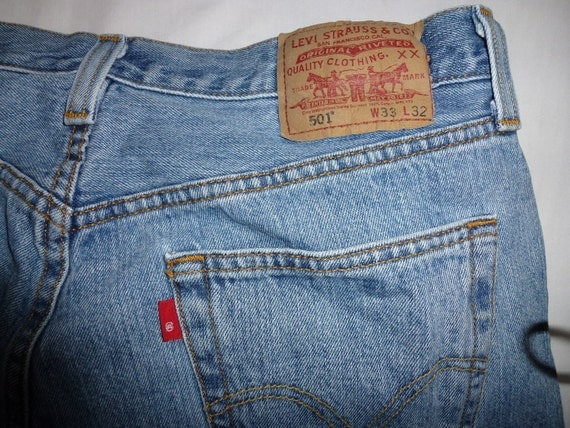 Vintage Levis 501 jeans red label stonewash W33 L32