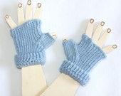 Children  Fingerless Gloves -  Blue