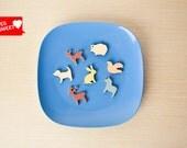 Animals Kingdom wood magnets - free shipping