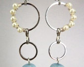 Drop Earring with Blue Stones