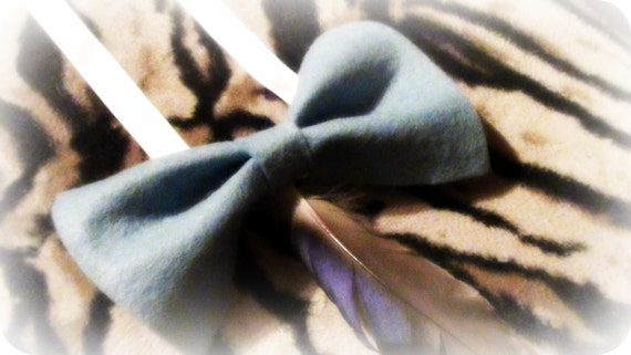 Ribbon Necklace with Feather