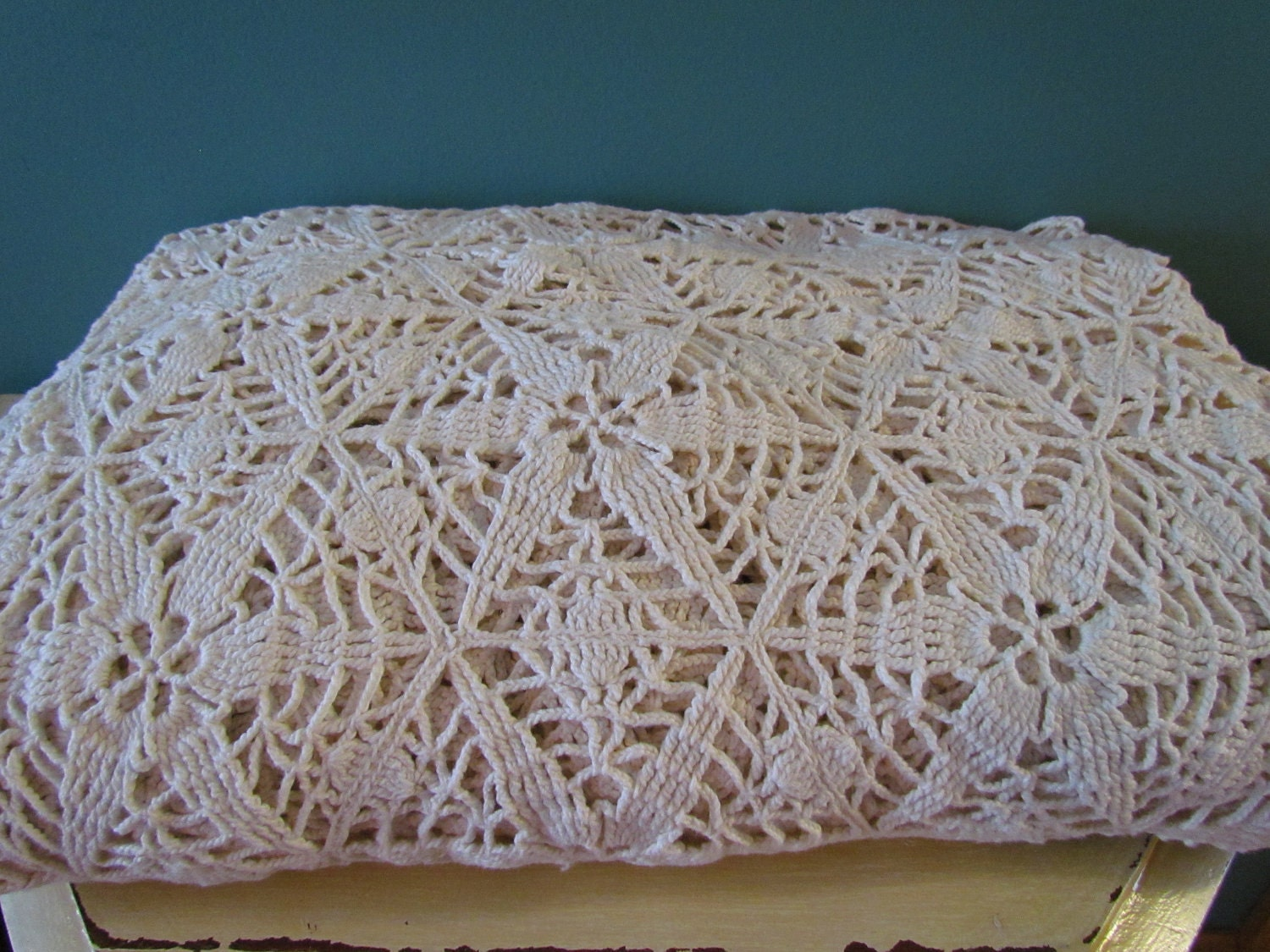 Crochet Bedspread : Beautiful Antique Crochet Bedspread by jleevintage on Etsy