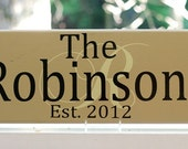 Custom Last Name Signs, Personalized Family Name Wood Sign, Initial Overlay. Wedding Gifts, Bridal Shower or Anniversary