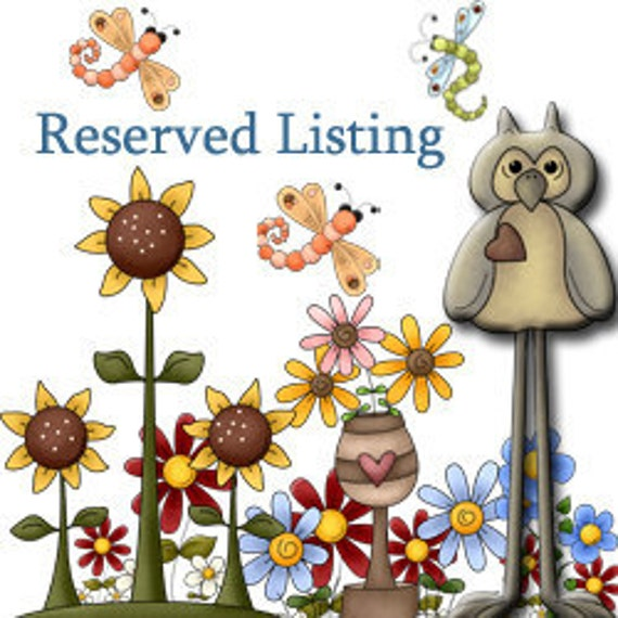 Reserved Listing for Kelsey