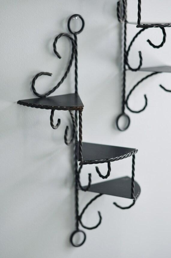 Wrought Iron Spiral Shelves