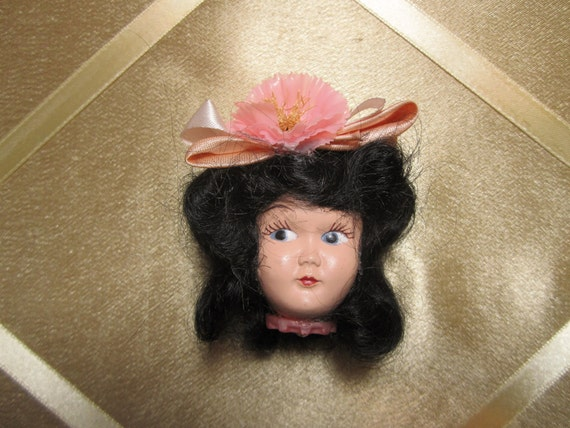 Meet  Betty, Vintage Doll Brooch or Pin