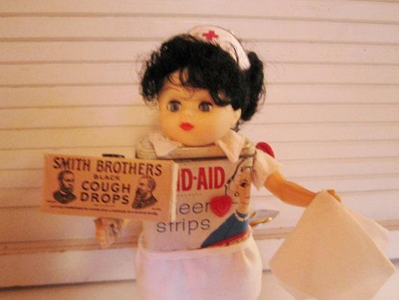 Nurse Mimi Catchalotta - Assemblage Doll Art