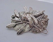 DRAGONFLY LANDSCAPE PIN Sterling Silver Original Insect Jewelry from Elegant Insects.