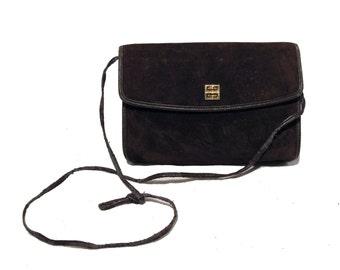1970s Givenchy Brown Suede Shoulder Bag