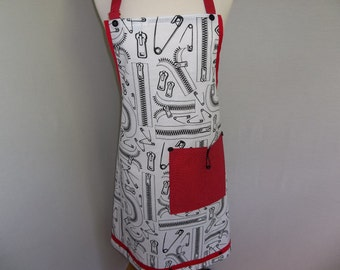 Safety Pins and Zippers Apron  O.O.A.K.
