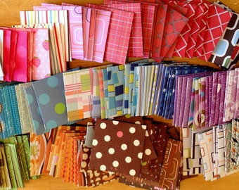 Mini envelopes (10) random print assortment pack self sealing