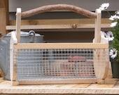 Cedar garden basket for pick and rinse