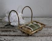 Antique Brass Tub Soap Holder