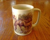 Horse Design Coffee Mug Vintage Otagiri