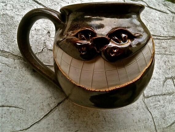 Pottery Cheshire Smiling Cat Mug