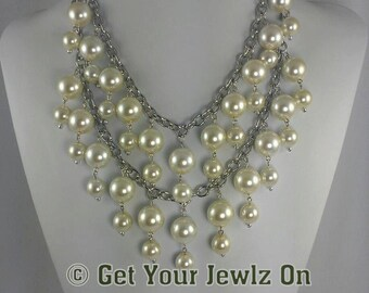 Pearl Necklace - Bella Pearls by Get Your Jewlz On