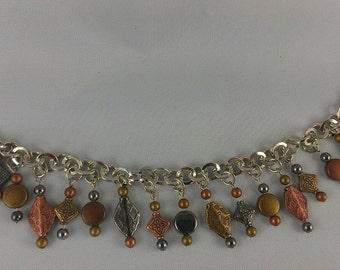 Multi Colored Metal Bead Bracelet - By Get Your Jewlz On