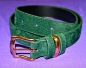 Green Suede Belt