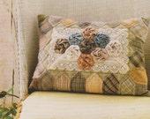 Rose flower pillow case sheet Pdf Pattern Quilt Sewing Patchwork applique embroidery stitch diy gift women art